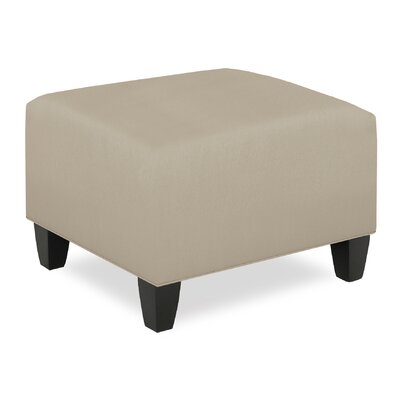 City Spaces Upholstered Club Ottoman Upholstery: Cream