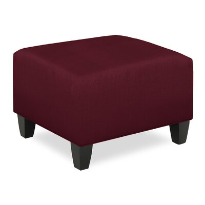 City Spaces Upholstered Club Ottoman Upholstery: Merlot