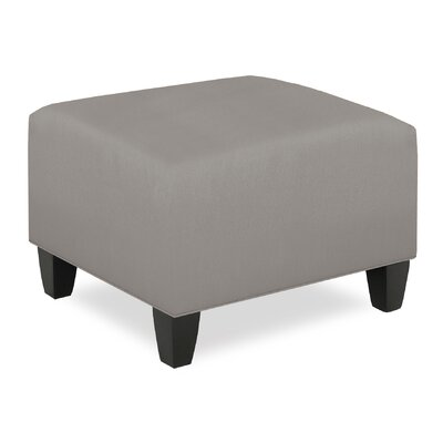 City Spaces Upholstered Club Ottoman Upholstery: Pewter
