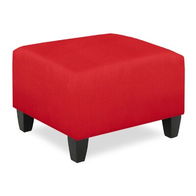 City Spaces Upholstered Club Ottoman Upholstery: Scarlet