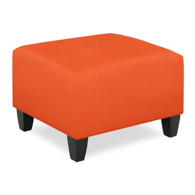 City Spaces Upholstered Club Ottoman Upholstery: Tangelo