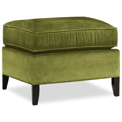City Spaces Upholstered Club Ottoman Upholstery: Grass