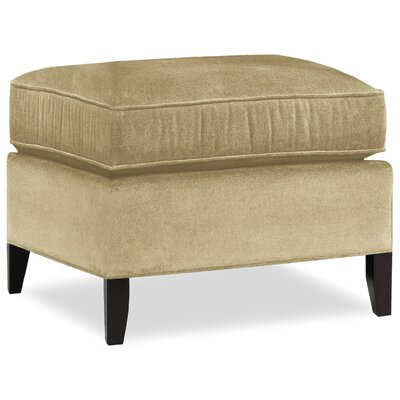 City Spaces Upholstered Club Ottoman Upholstery: Beige