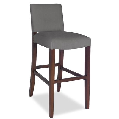 Divine Bar Stool Upholstery: Me Charcoal