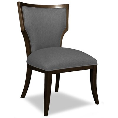 Divine Ashley Side Chair Upholstery: Me Charcoal