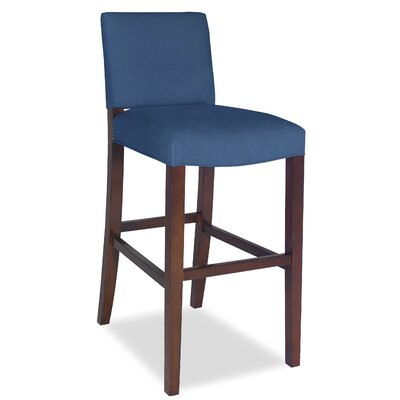 Divine Bar Stool Upholstery: Me Navy