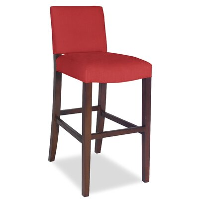 Divine Bar Stool Upholstery: Me Ruby