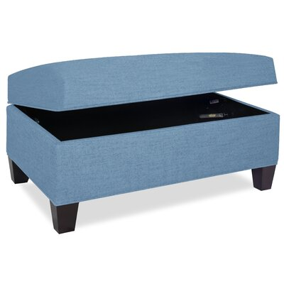 Mondo Upholstered Storage Ottoman Upholstery: Sky