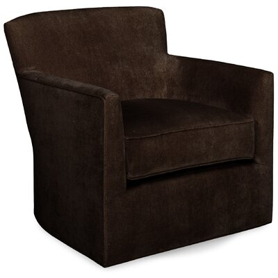 Rowan Glider Swivel Armchair Upholstery: Chocolate