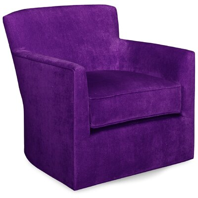 Rowan Swivel Glider Lounge Chair Color: Eggplant