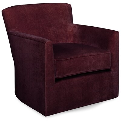 Rowan Swivel Lounge Chair Color: Merlot