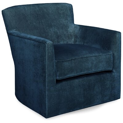 Rowan Swivel Lounge Chair Color: Navy