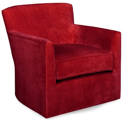 Rowan Swivel Lounge Chair Color: Scarlet
