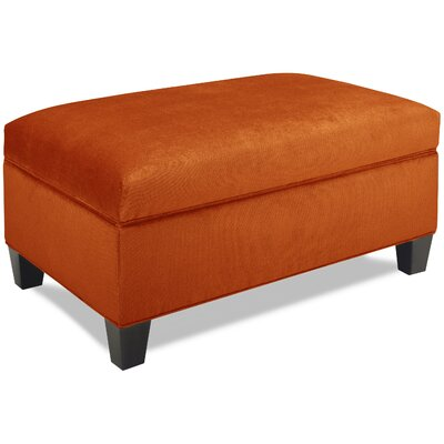 Mondo Upholstered Storage Ottoman Upholstery: Tangelo
