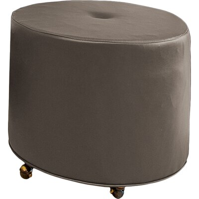 Mondo Upholstered Round 1-Button Ottoman Upholstery: Truffle