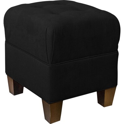 Mondo 18 Upholstered Square 4-Button Ottoman Upholstery: Onyx