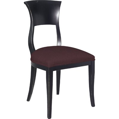 Divine Aaron Side Chair Upholstery: Me Chestnut