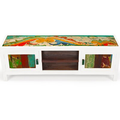 Channel Surf Reclaimed Wood 59 TV Stand