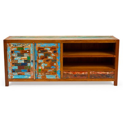 Reel Deal Reclaimed Wood 71 TV Stand