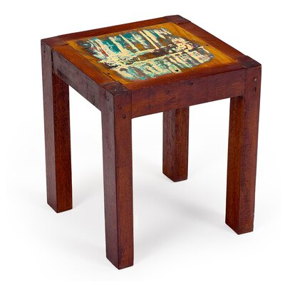 Outrigger Reclaimed Wood Stool