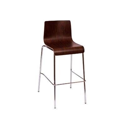 Abby 29.5 Bar Stool Upholstery: Mahogany