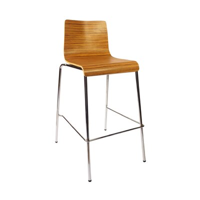Abby 29.5 Bar Stool Upholstery: Zebrano