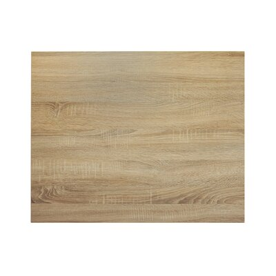 Midtown Table Top Size: 42 W x 30 D, Color: Safari