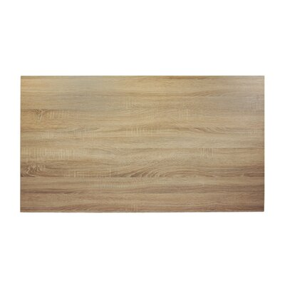 Midtown Table Top Size: 60 W x 30 D, Color: Sawmill Oak