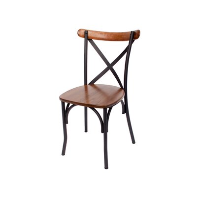 Henry Solid Wood Dining Chair Color: Sand Black