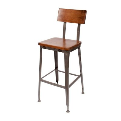 Lincoln 29 Bar Stool Color: Brown/Gray