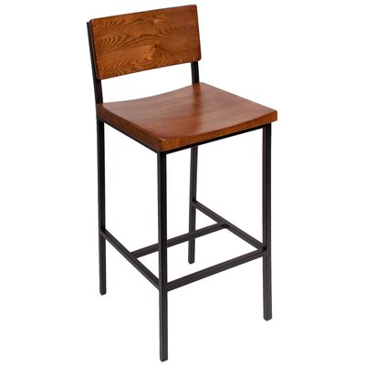 Memphis 30.25 Bar Stool Color: Autumn/Black