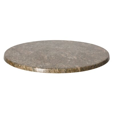 SoHo Table Top Size: 48 W x 48 D, Finish: Silver Mist
