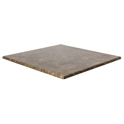 SoHo Table Top Size: 24 W x 24 D, Color: Baltic Brown
