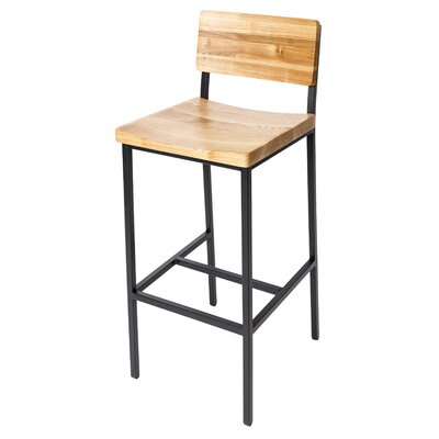 Memphis 30.25 Bar Stool Color: Natural/Black