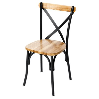 Henry Solid Wood Dining Chair Color: Natural Ash