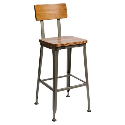 Lincoln 29 Bar Stool Color: Autumn Ash