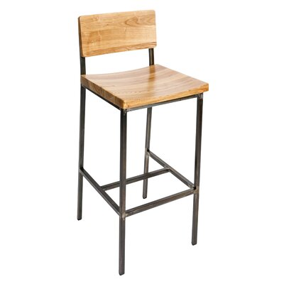 Memphis 30.25 Bar Stool Color: Natural/Rustic