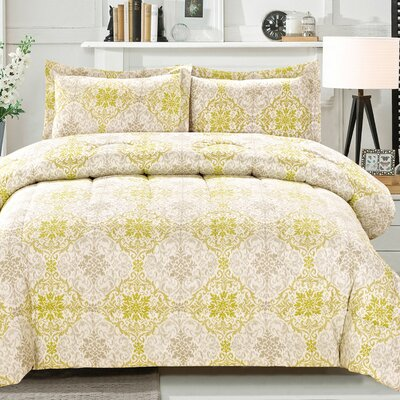 Cathay Home, Inc 3 Piece Ikat Medallion Comforter Set - Size: Full/Queen at Sears.com