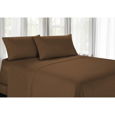 100% Egyptian Quality Cotton Sheet Set Color: Light Brown