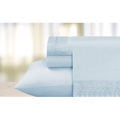 Cathay Home, Inc Venice Lace 90 Thread Count Sheet Set - Color: Blue Size: King