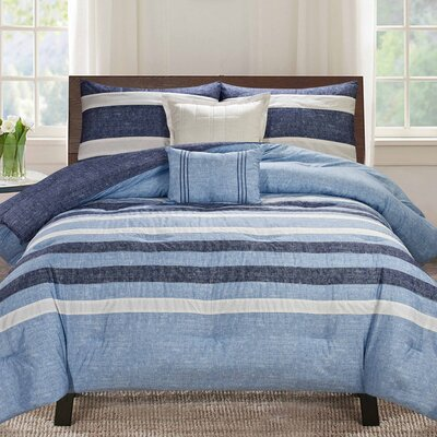 Hattie Bedding Reversible Comforter Set Size: King