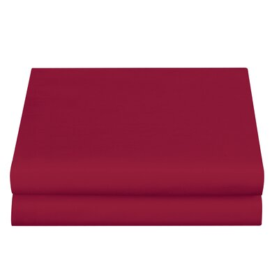 Clarke Fitted Sheet Color: Burgundy, Size: Full/Double