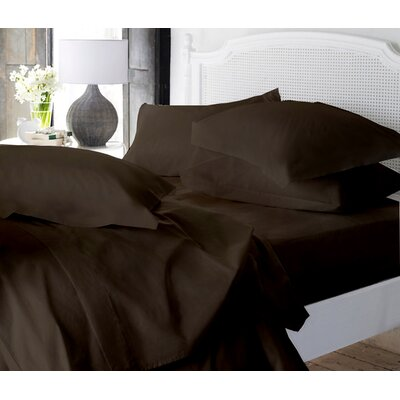 Clarke Super Soft Fitted Sheet Color: Brown, Size: Twin