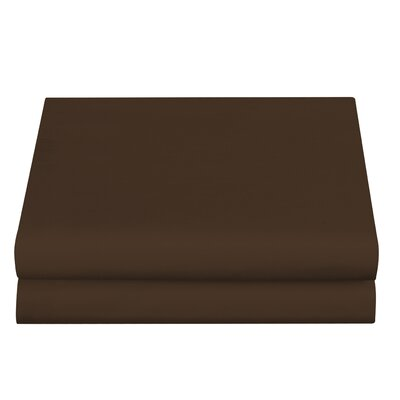 Clarke Fitted Sheet Color: Brown, Size: Queen