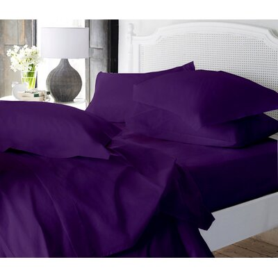 Clarke Super Soft Fitted Sheet Color: Eggplant, Size: King