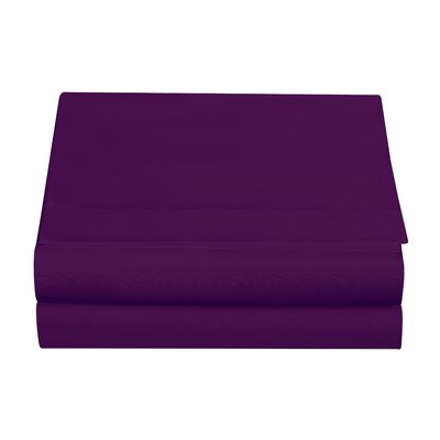 Clarke Fitted Sheet Color: Eggplant, Size: Twin
