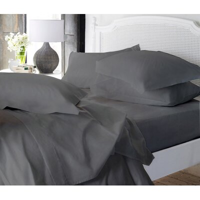 Clarke Super Soft Fitted Sheet Color: Gray, Size: Queen