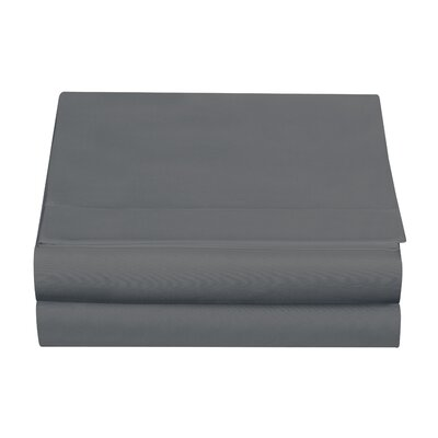 Clarke Fitted Sheet Color: Gray, Size: Twin
