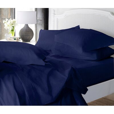 Clarke Super Soft Fitted Sheet Color: Navy, Size: Full/Double