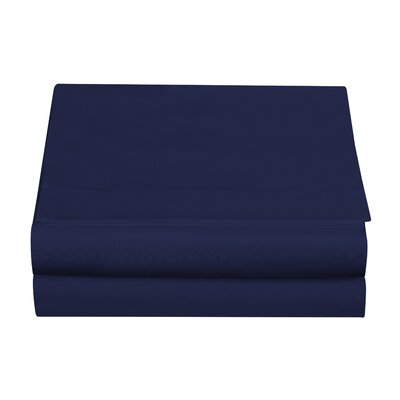 Clarke Fitted Sheet Color: Navy, Size: Full/Double